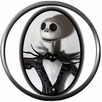 Portrait of Jack Skellington Halloween Town Nightmare Before Christmas 18MM - 20MM Charm for Snap Jewelry New Item