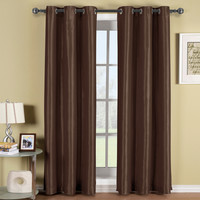 Soho Chocolate Grommet Blackout Window Curtain Panel