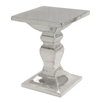 Zapata Mirrored Square End Table