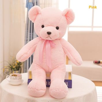 Stuffed Plush Animals Cute Soft Toys 35cm Pink Teddy Bears Kids Room Decoration Enfant Birthday Gift Knuffels Baby Doll Toy