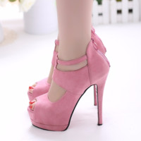 Trendy Design Peep Toe Stiletto Pump High Heels