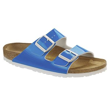 Birkenstock Classic Arizona Birko-flor Regular Fit Neon Blue - Beauty Ticks