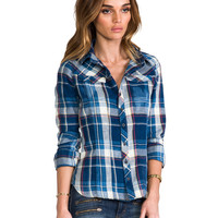 G-Star Tailor Check Plaid Shirt in Blue