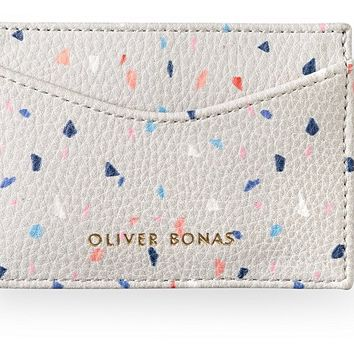 Grey Confetti Print Travel Card Holder | Oliver Bonas