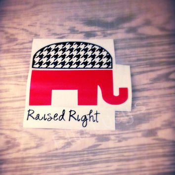 Raised Right Houndstooth Republican Decal--Various sizes!