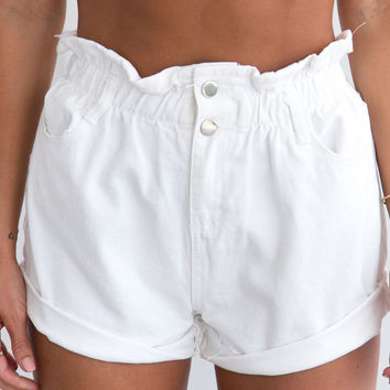 LOST AND FOUND SHORTS (WHITE)