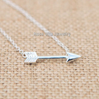 Silver Arrow Necklace - Hunger Game Necklace!