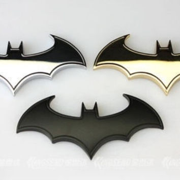 1pc Cool 3D Metal bat auto logo car styling car sticker metal batman badge emblem tail decal = 1927851076