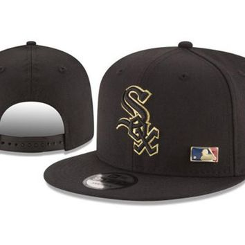 New Arrival New Era Black Cap MLB Baseball Fitted Hat-14
