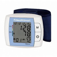 HealthSmart Automatic Wrist Blood Pressure Monitor with Fast Digital Readout and Expanded Memory Blue #04-875-001