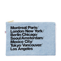 Denim Cities Carry-All Pouch | American Apparel