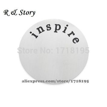 Living memories charm for floating locket back plate inspire LFP_027