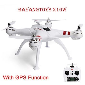 BAYANGTOYS X16 GPS Brushless Motor RC Quadcopter RTF 2.4GHz 4CH 6Axis Automatic Return 360 Degree Flip Mini Drones RC Helicopter