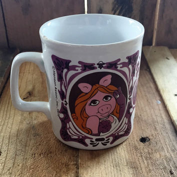 Vintage 1978 The Muppet Show - Miss Piggy Portrait Mug / Jim Henson Association / Kiln Craft Tableware,England