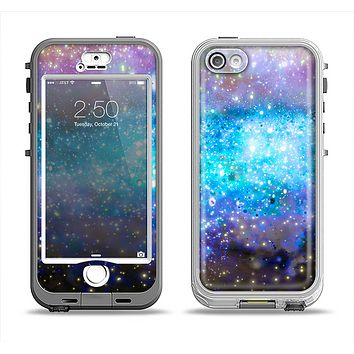 The Glowing Space Texture Apple iPhone 5-5s LifeProof Nuud Case Skin Set