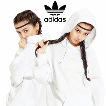 ADIDAS Fashion hot White Pullover sweater hoodie