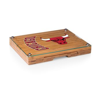 Chicago Bulls - 'Concerto' Glass Top Cheese Board & Tools Set by Picnic Time