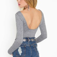 Double Scoop Tee - Heather in Sale at Nasty Gal