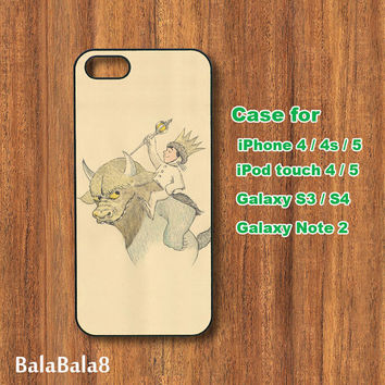 The little Prince - iPhone  4 case, iphone 5 Case,iPod  touch 4 case , iPod touch 5 case , Samsung Galaxy S3 , S2 , Note 2 case