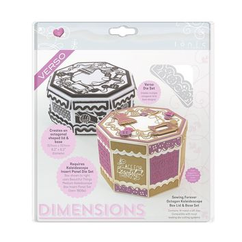 Sewing Forever Octagon Kaleidoscope Box Die Set - Dimensions - 1903e