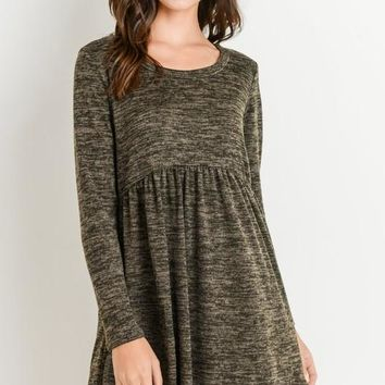 Baby Doll Dress in Olive