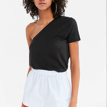 Silence + Noise Willow One-Shoulder Shirt - Urban Outfitters