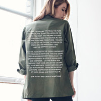 MANTRA VINTAGE ARMY JACKET