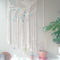 Custom Listing- Macrame Curtain- Macrame Wall Hanging~ Boho Wall Decor~ Wedding Decor~ Wall Accent- Bohemian Decor- Boho Decor- White Decor