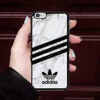 Luxury Adidas.0x0 Stripe Marble Fit Hard Case For iPhone 6 6s 7 8 Plus X Cover +