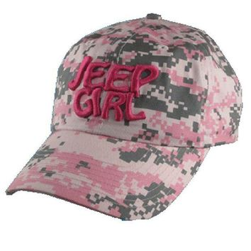 ESBON3F Jeep Girl Digital Camo Pink Cap