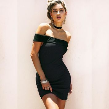 Bandages Strapless Sexy Pen Dress One Piece Dress [256931463194]