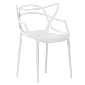 Brand Name Stackable Dining Chair, White