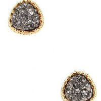 Druze Stone Stud Earrings