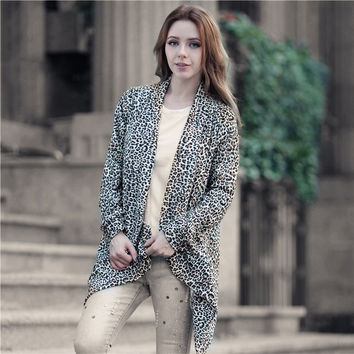 Stylish Hot Sale Winter Leopard Print Cardigan Jacket [8035750401]