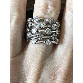 The Camogli, A 3.11TCW Russian Lab Diamond Stacking Ring