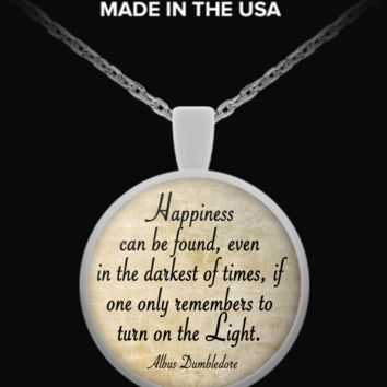 Dumbledore quote necklace dumbledore