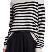 Vince | Engineered Striped Print Wool Blend Sweater | Nordstrom Rack