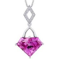 Superman Cut 9.00 carats Sterling Silver Pink Sapphire Pendant ...