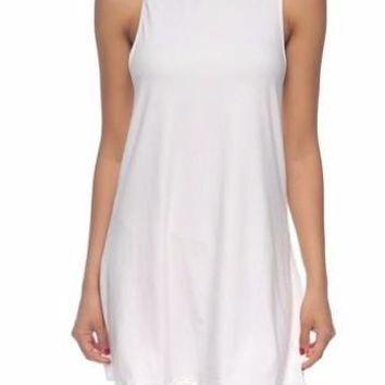 Slept til Noon Dress | White