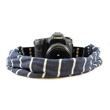 Sailor Stripe Scarf Camera Strap - Capturing Couture - CASCARF-SAIL