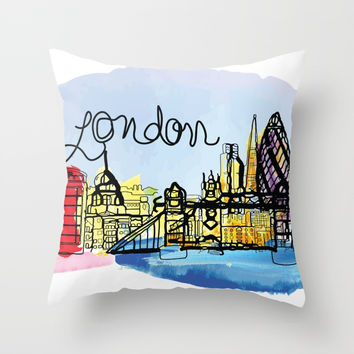 London Throw Pillow by cindys