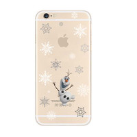 Disney Frozen Snowflakes iPhone 6s 6 Soft Clear Case