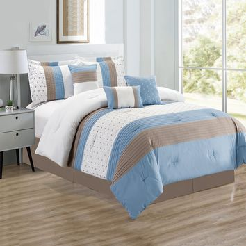 D&B California Collection - Luxury 7 Piece Comforter Set