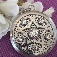 Essential Oil Diffuser Necklace - Aroma Therapy Locket Diffuser Jewelry - Stainless steel Oil Diffuser - Natural Oils - jewelry