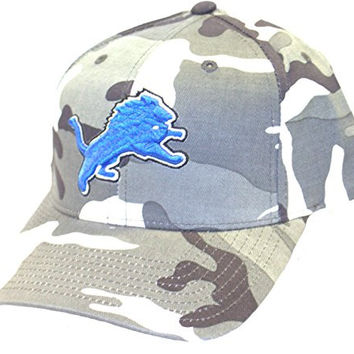 NFL Officially Licensed Detroit Lions Urban Camo Embroidered Logo Baseball Style Hat Cap