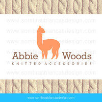 OOAK Premade Logo Design - Alpaca Silhouette - Perfect for a knitted goods shop or a textile supplies brand