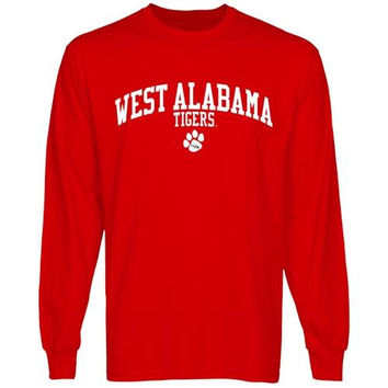 University of West Alabama Team Arch Long Sleeve T-Shirt - Red