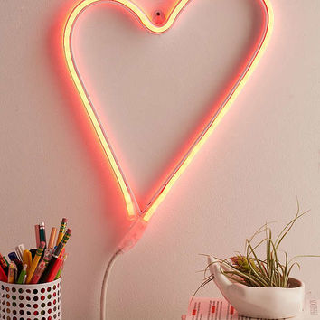 LED Heart Sign   Urban Outfitters