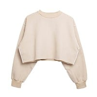 Assorted Pastel Basic Crop Top Sweater