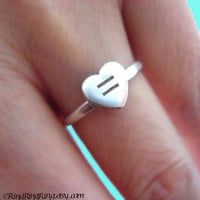 Samesex marriage support ring Equal Love Heart by RingRingRing